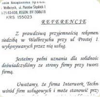 Referencje - Kompania Książańska Sp. z o.o.